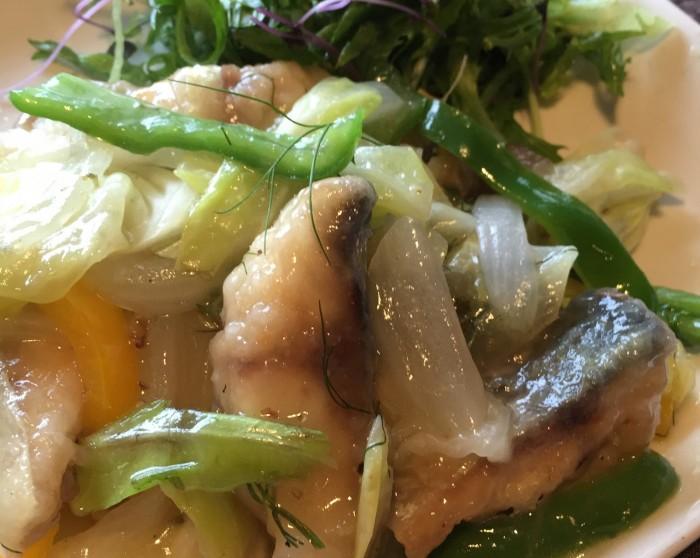 ゴマサバの野菜白餡かけの画像